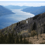 Der Lago Maggiore von oben