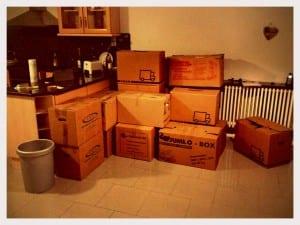 Alte Wohnung - die Kisten