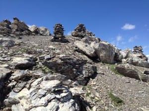 Steinmaennchen auf dem Gipfel