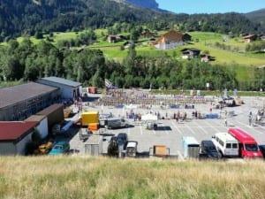 Blick von oben: hier starten die Mountainbiker