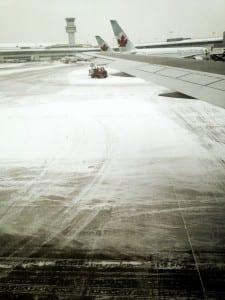 Flughafen im Schnee