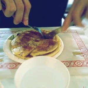 Pancakes mit Maple Sirup