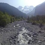 Immer auf den Gletscher zu