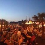 Das Festival in Abendsstimmung