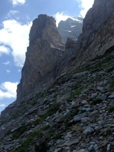Am Fusse der Eiger Nordwand