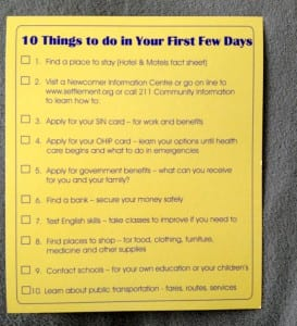 Checklist - 10 Things to do