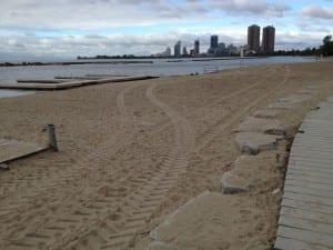 Joggen zum Beach