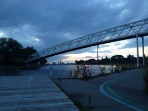 Joggingrunde am Abend
