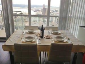 Dinner mit Blick auf den See