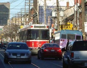 Cars love streetcars