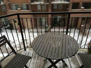 Schneeflecken am MOrgen