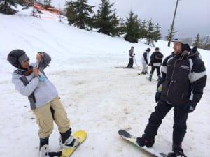 Die Snowboard-Newbies