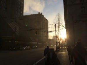 Vancouver mit Sonne