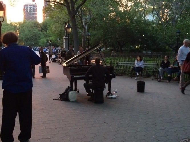 Pianospieler in Washington Park