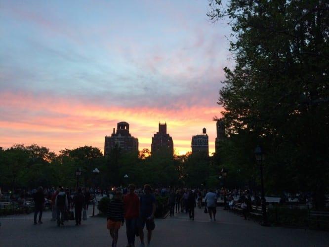 Sunset in Washington Park