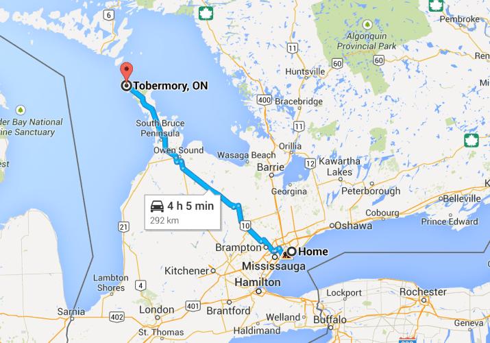 Tour Toronto-Tobermory