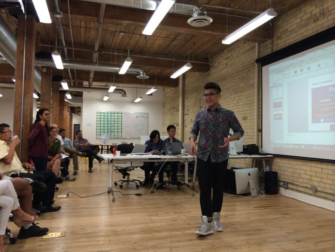Präsentation eines Studenten