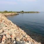 Bauschutt am Ende der Insel