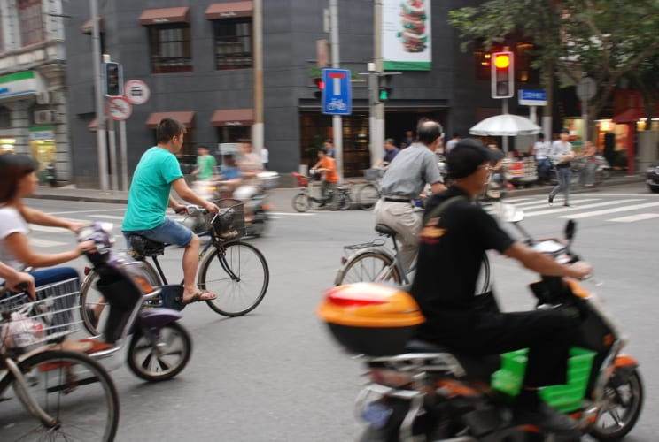 Moped- und Bikechaos