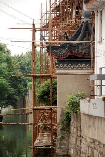 Baugerüst aus Bambus