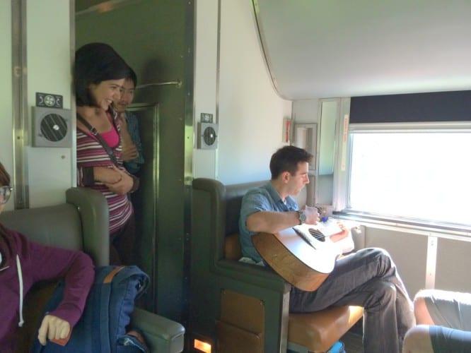 Jamsession im Zug