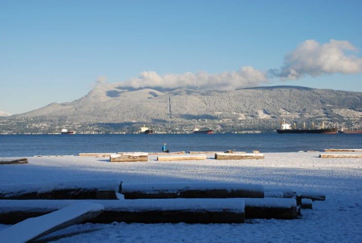 Wintermorgen am Strand