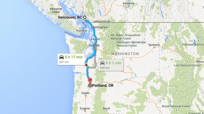 Roadtrip Vancouver - Portland