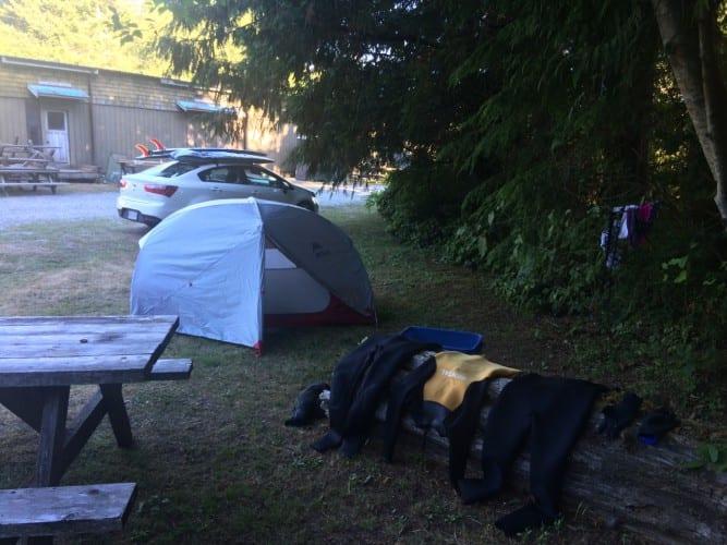 Campen auf Vancouver Island