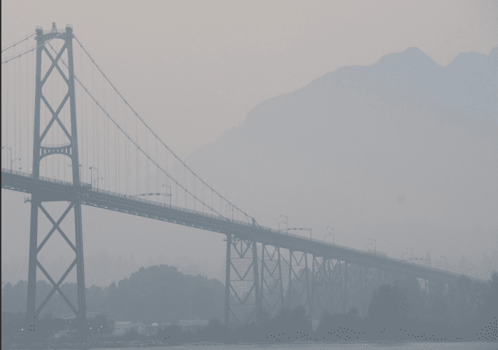Vancouver im Smog