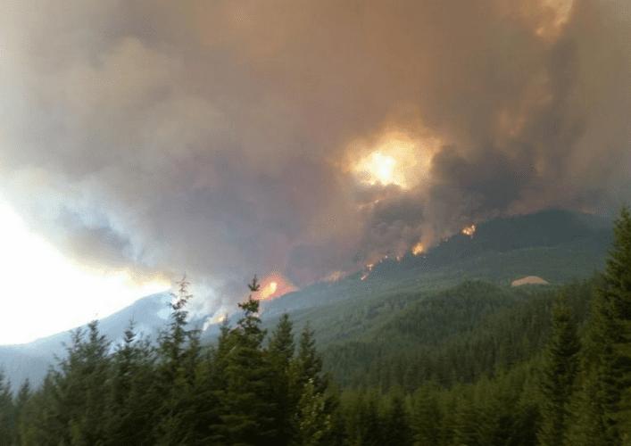 Waldbrand in Pemberton