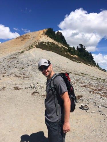 Mike auf dem Gipfel