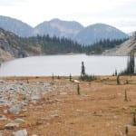 Blick zurück auf den Kookanee Lake