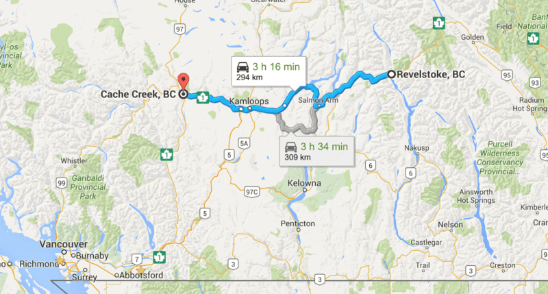 Route Revelstoke - Cache Creek