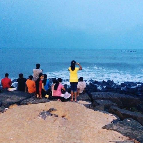 Meer in Pondicherry