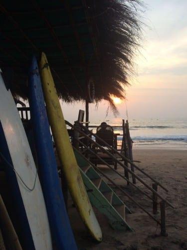 Sunset at Anjuna Beach