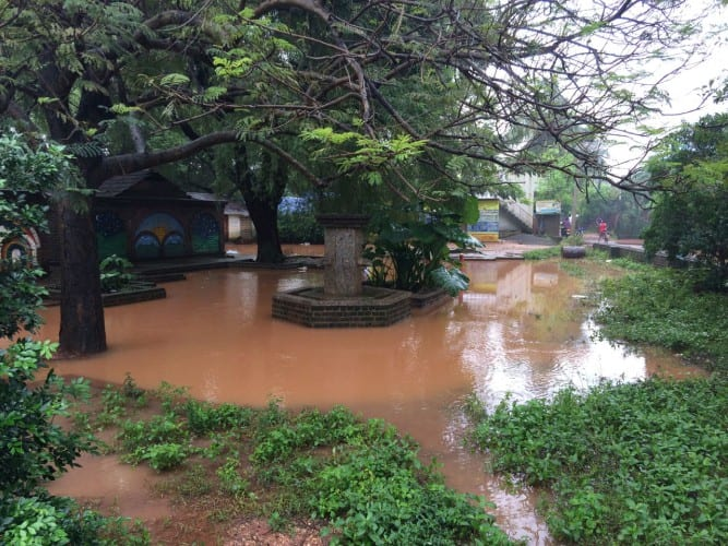 Auroville is getting flooded