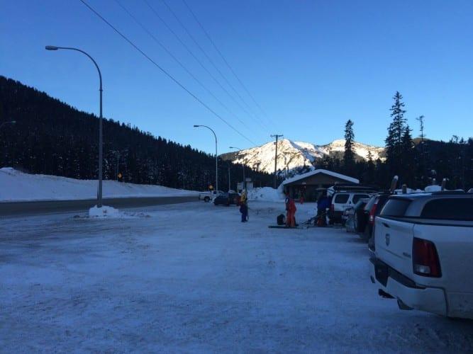 Parkplatz: der Start am Morgen