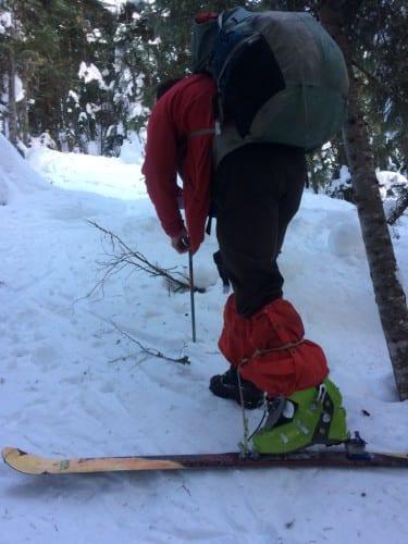 Greg der einbeinige Skifahrer