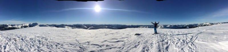 Panorama auf der Spitze