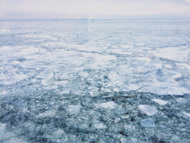 Aufgewacht auf dem Eismeer