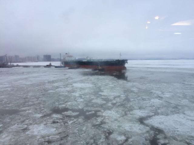 Morgens auf dem Eismeer