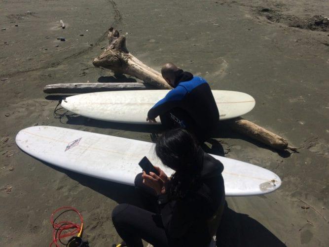 Bereit zum Surfen