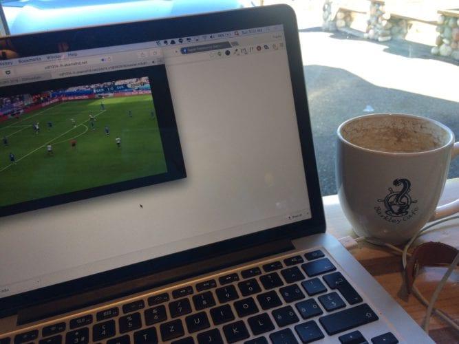 Fussball im Coffeeshop