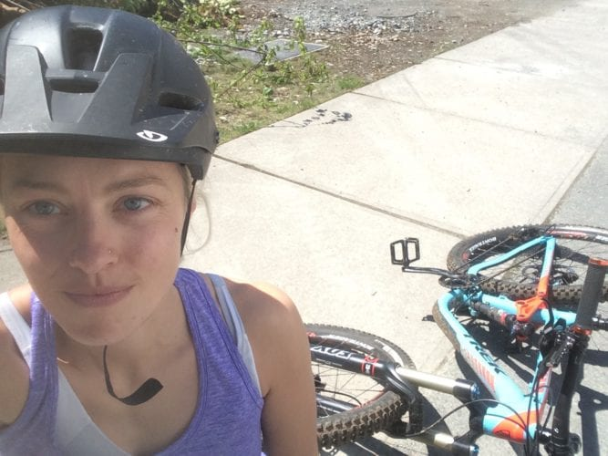 Biken in Squamish