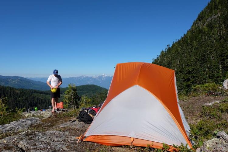 Unser Zeltplatz auf dem Berg