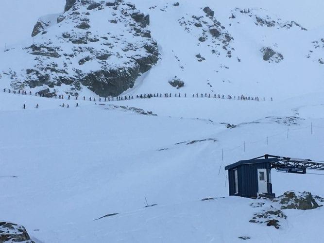 Warteschlange in Whistler