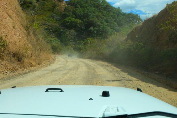Unser weisser Jeep