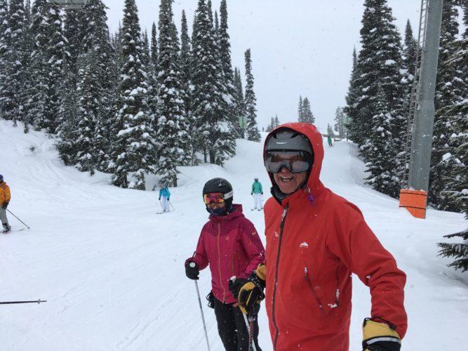 Skifahren mit Gary und Yvonne