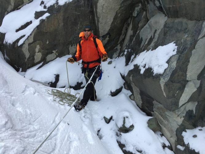 Sichern im Schnee