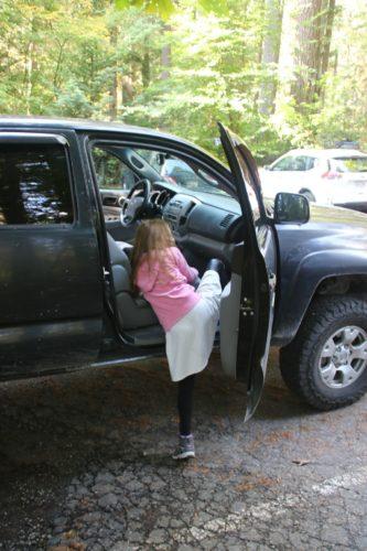 Hannahs Fahrt im Truck